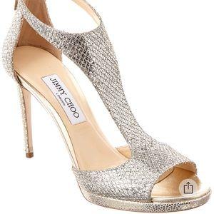 Jimmy Choo golden glitter sandals new